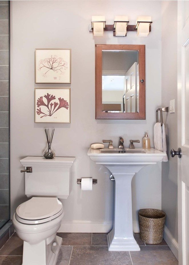 Aseo peque o im genes y fotos Nice bathroom designs for small spaces