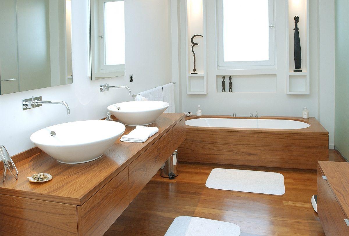 Cuartos de ba o de madera - Adornos para cuartos de bano ...