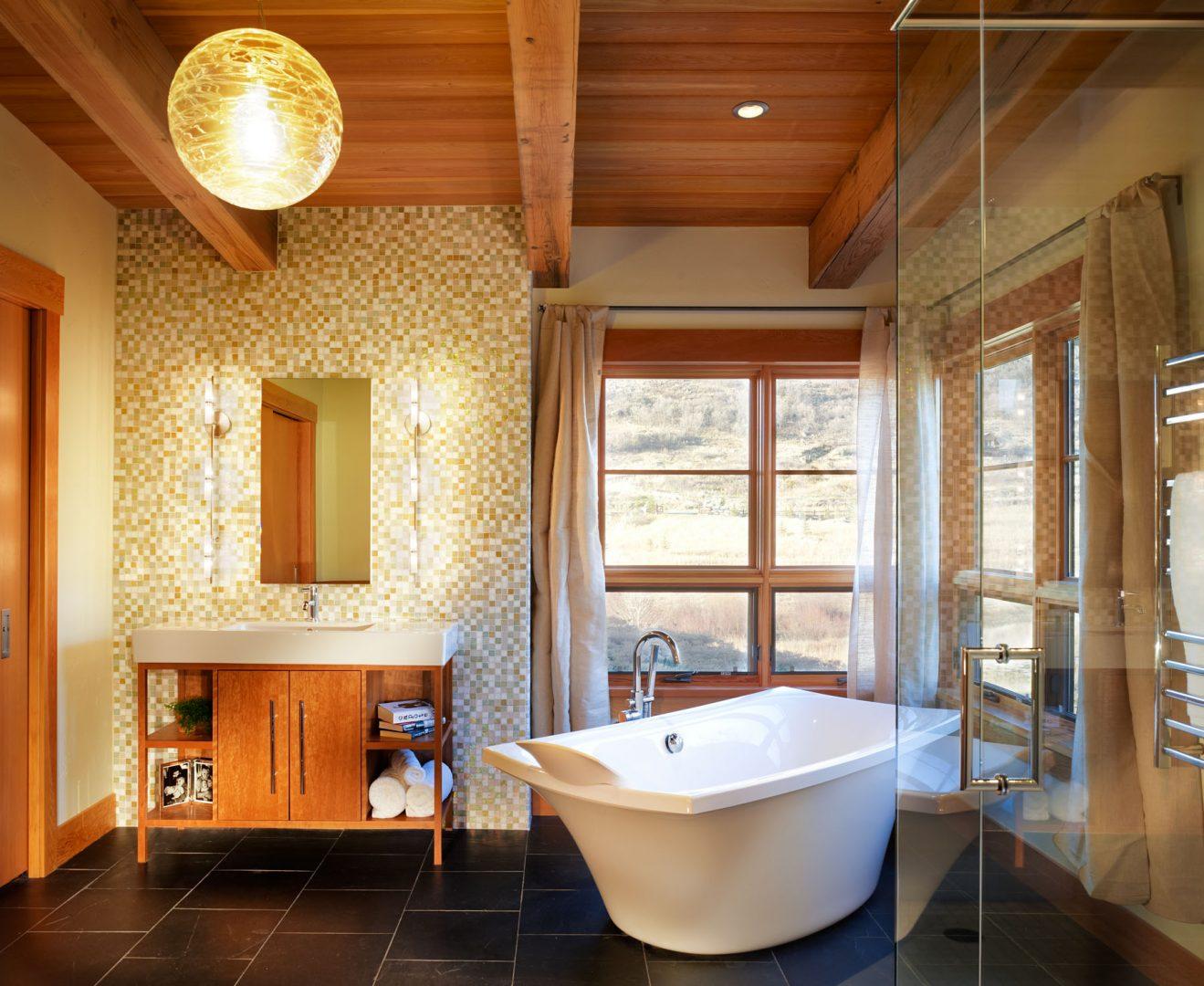 Rustic Modern Bathroom Design Ideas
