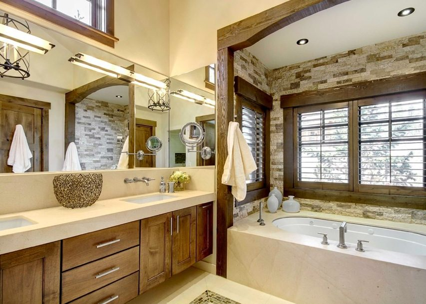 Baños Rusticos Ideas:Rustic Modern Bathroom Design Ideas