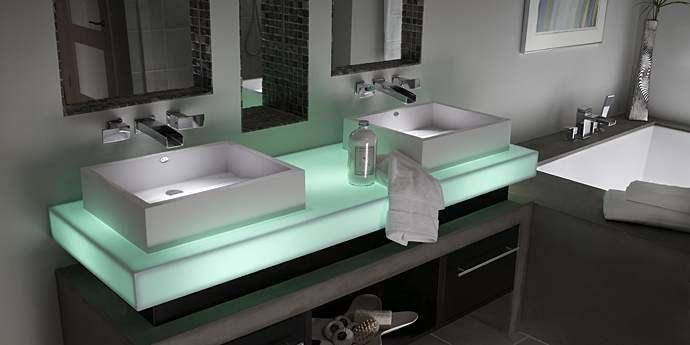 Lavabo de Corian para el baño :: Imágenes y fotos
