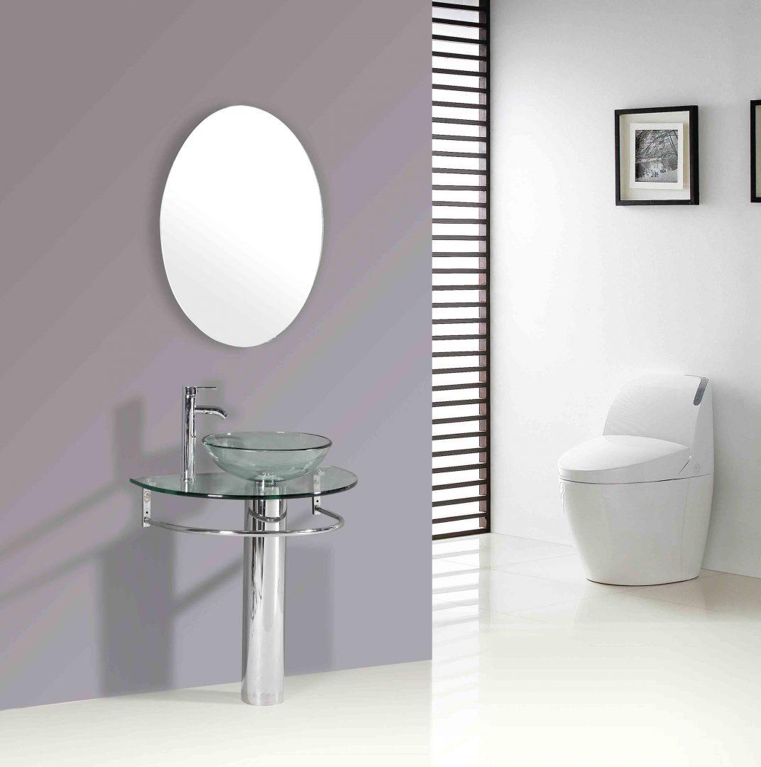colocar un lavabo con pedestal lavabos para baos cristal dikiducom