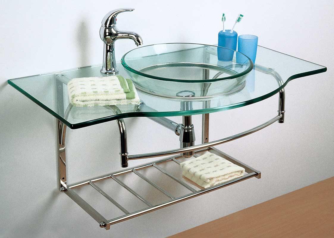 Lavabo de cristal templado im genes y fotos - Lavabo de vidrio ...