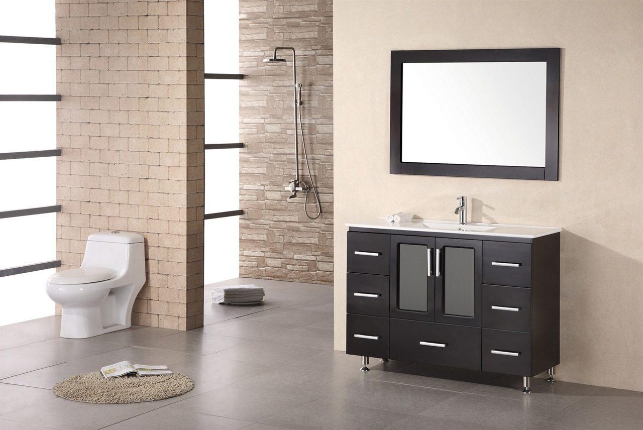 Mueble de lavabo moderno im genes y fotos for Lavabos banos modernos
