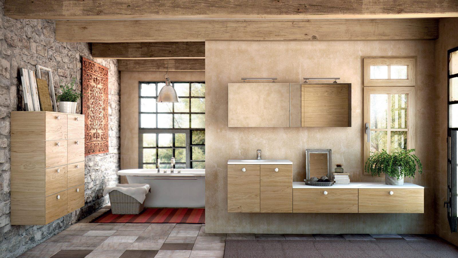 Muebles de ba o de madera im genes y fotos for Muebles de cuarto de bano grandes