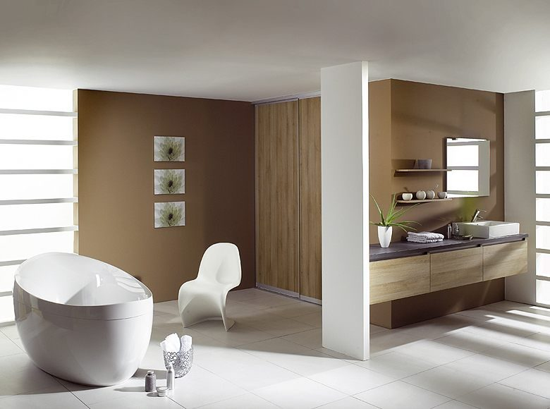 Galer a de im genes cuartos de ba o modernos for Murales para banos modernos